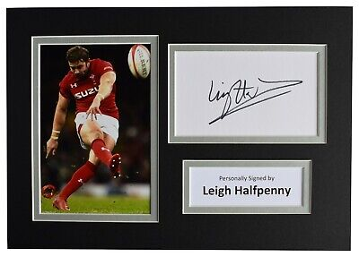 £29.99 • Buy Leigh Halfpenny Signed Autograph A4 Photo Display Wales Rugby Union AFTAL COA