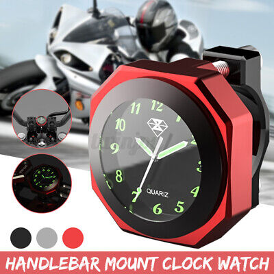 $21.49 • Buy 7/8  CNC Waterproof Motorcycle Handlebar Mount 1  Dial Clock Watch Universal