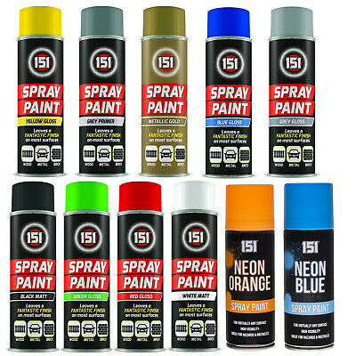 Multi Purpose Spray Paint Primer Matt Gloss Metallic Wood Metal Brick 250ml UK • 5.18£