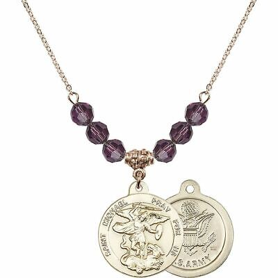 6mm St. Michael / Army Birthstone Necklace • 176.01£