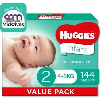 AU40 • Buy Huggies Ultimate Mega Nappies Size 2 Infant (4-8kg) - 144 Pack