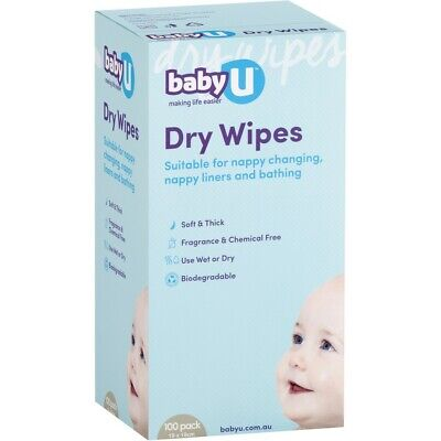 AU5.50 • Buy Baby U Dry Wipes 100 Pack - Fragrance Free