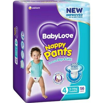 AU27 • Buy BabyLove Jumbo Nappy Pants Toddler 9-14kg 56 Pack