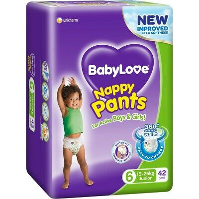 AU27 • Buy BabyLove Jumbo Nappy Pants 15-25kg Junior 42 Pack