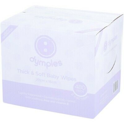 AU7.50 • Buy Dymples Thick & Soft Baby Wipes 480 Pack - Lightly Fragranced