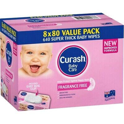 AU20 • Buy Curash Babycare Baby Wipes 640 Pack - Fragrance Free