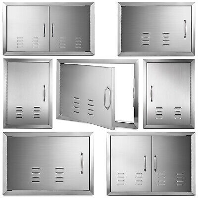 $102.99 • Buy Outdoor Kitchen / BBQ Island Stainless Steel Single Double Access Door With Vent