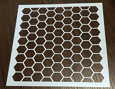 £4.49 • Buy Large Chicken Wire, Honeycomb, Hexagon Mixed Media Stencil – NEW- FREE P & P