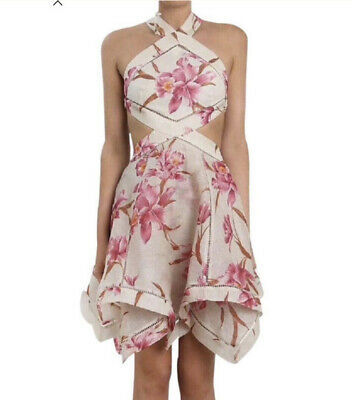 $428 • Buy Nwt Zimmermann Corsage Halted Short Dress Size 0