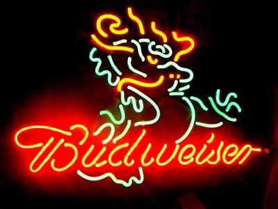"$ CDN156.03 • Buy 17""x14""BUDWEISER DRAGON Neon Sign Light Handmade Visual Artwork Wall Decor Gift"