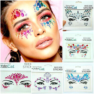 £1.99 • Buy Face Gems Adhesive Glitter Jewel Tattoo Sticker Festival Rave Party Body Make Up