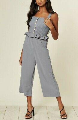 Women Ladies Summer Grey Pleated Top With Trousers Co-ords Suit 2 Ps Set • 11.99£