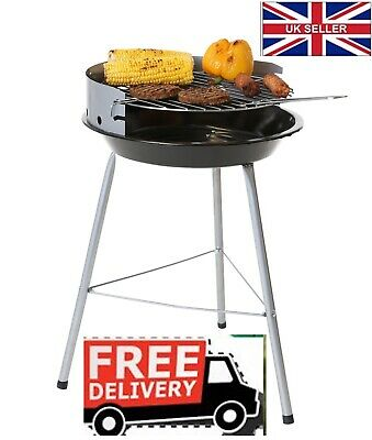 Barbecue Charcoal BBQ Grill 35cmRound Cooking Area Grill Portable Outdoor Garden • 25£