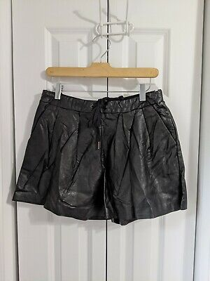 $15 • Buy NWT Women's BlankNYC Vegan Leather Shorts Size Large Black