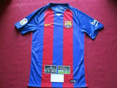 AU549.99 • Buy Barcelona Lionel Messi Personally Hand Signed 2016-17 Home Shirt Jersey - Coa