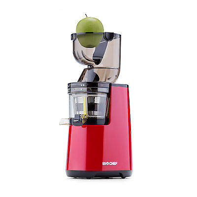 BioChef WHOLE Slow Juicer, Cold Press Juice & Sorbet Attachment - Red • 297£