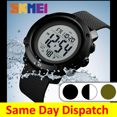 AU19.95 • Buy SKMEI Digital Sports Watch Mens Waterproof Water Resistant Casual Military 1426