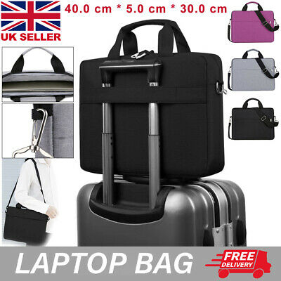 15.6 Inch Laptop Shoulder Bag PC Waterproof Carrying Soft Notebook Case Cover UK • 8.99£