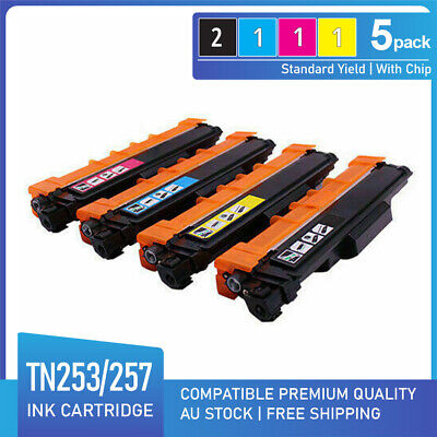 AU108 • Buy 5x Toner For Brother DCP-L3510CDW MFC-L3750CDW L3770CDW L3745CDW TN-253 TN-257