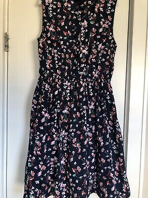 Yumi Girls Dress 13/14 164cm Floral Elasticated Waist • 9£