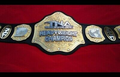 $555.29 • Buy Tna World Heavyweight Replica Belt 4mm Zinc Stacked Plates & Real Leather Strap