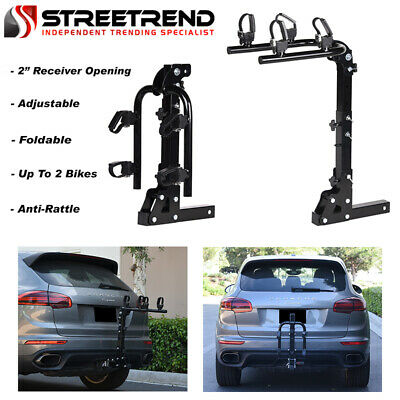 $160 • Buy Hitch Mount Bike Rack 2-Bicycle Style Adjustable Foldable Trailer Carrier 2  SD