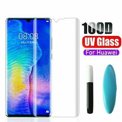 For Huawei P40 PRO UV Tempered Glass Full Liquid Glue Screen Protector • 5.45£