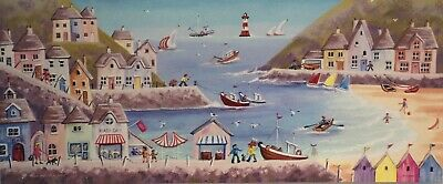 Seaside Canvas Print By S Marsden - Harbours, Beach And Donkeys • 14.99£