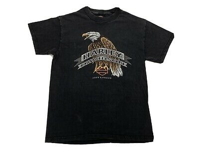 $ CDN44.65 • Buy Vintage 90s Harley-Davidson 1998 Eagle USA Made Rare Crazy T Shirt M Milwaukee