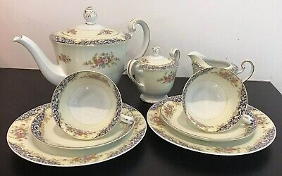 £75 • Buy Vintage  Mid 1940's, 'Noritake- Made In Japan' 9pce Tea For 2, Floral China Set
