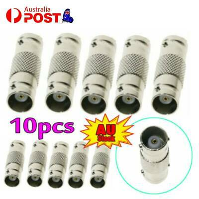 AU9.99 • Buy 10PCS BNC Female To Female Adapter Connector For CCTV Camera Cable Extension