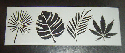 Tropical Leaves Leaf Cake Decorating Stencil Airbrush Polyester Film  • 9.99£