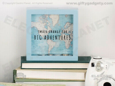 Big Adventures Vintage Map Travel Lovers Money Box, Piggy Bank, Coin Bank • 10.99£