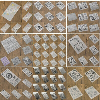 Silicone Clear Stamps Transparent Rubber Stamp Stencil DIY Scrapbooking Craft • 2.39£