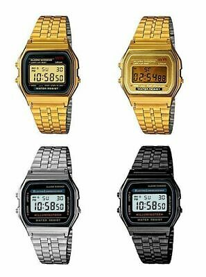 AU29.99 • Buy Casio Digital Watch Classic Vintage Retro Stainless Steel Rubber Band Alarm Stop