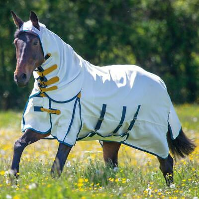 £74.99 • Buy New Shires Highlander Plus Sweet-Itch Combo Fly Rug - White