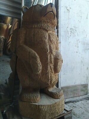 Sussex Chainsaw Carving  Bear Great Gift Idea Wooden Garden Or Home Sculpture • 400£