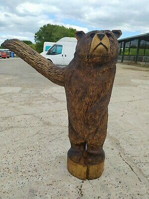 Sale Sussex Chainsaw Wood Carving  Bear  Home Garden Rustic Sculpture Art  • 220£