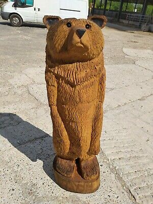 Sussex Chainsaw Carving Elm Bear Great Gift Idea Wooden Garden Or Home Sculpture • 380£