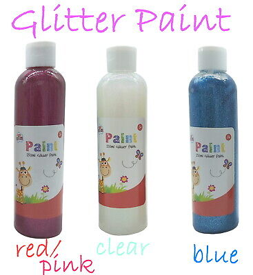 Glitter Craft Paint For Kids Art Create Home Fun Large Bottles 250ml  • 3.99£