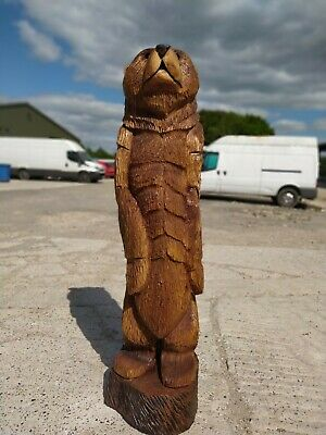 Sussex Chainsaw Carving Elm Bear Great Gift Idea Wooden Garden Or Home Sculpture • 420£