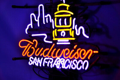 $ CDN170.45 • Buy 17 X14 Budweiser San Francisco Neon Sign Light Beer Bar Pub Wall Decor Handcraft