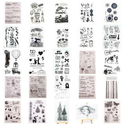 Deer Clear Stamps Transparent Silicone Stamp Stencil Embossing Scrapbook DIY • 3.10£