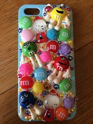 Handmade Decoden Phone Case Iphone 5/5S/SE 2020 New M&Ms Sweets Gumball • 15£