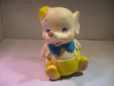 $45 • Buy Vintage Baby Elephant Squeak Toy  Edward Mobley Co 1961 Arrow Rubber And Plastic