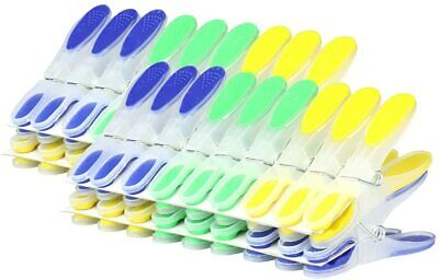 Strong Plastic Clothes Pegs Clips Pine Washing Line Airer Dry Line Home Gardens • 4.99£