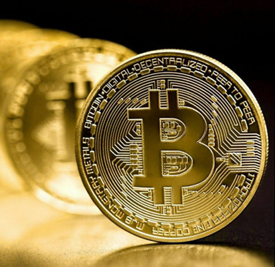 AU12.99 • Buy 3x Pcs Gold Plated Bitcoin Coin Collectible Gift BTC Coin Collection Physical AU
