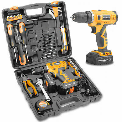 AU65 • Buy MasterSkil 50PCs 18V Cordless Drill Driver Power Hand Tool Set With Storage Case