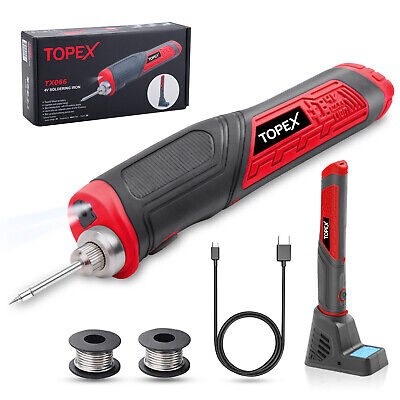 AU35 • Buy TOPEX 4V Max Cordless Soldering Iron With Rechargeable Lithium-Ion Battery
