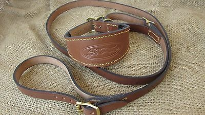 £22.50 • Buy Leather Greyhound Collar And Lead Set Solid Brass Fittings.